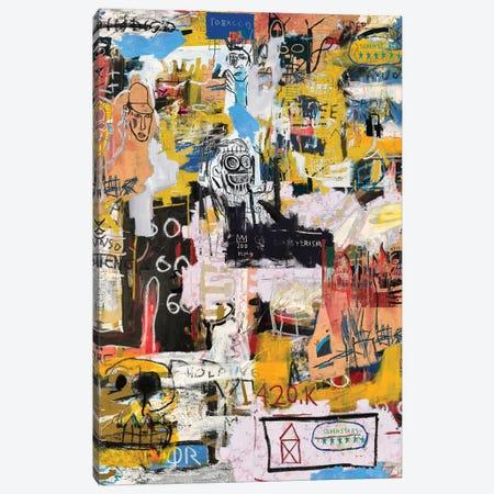 Basquiat World Canvas Print #PPP6} by PinkPankPunk Canvas Artwork