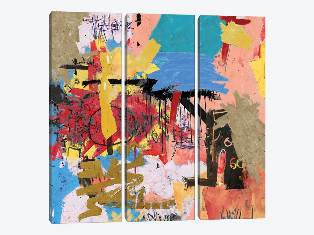 What Is Expressionism by PinkPankPunk 3-piece Canvas Wall Art