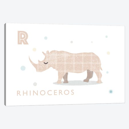 Rhino Canvas Print #PPX100} by PaperPaintPixels Canvas Print