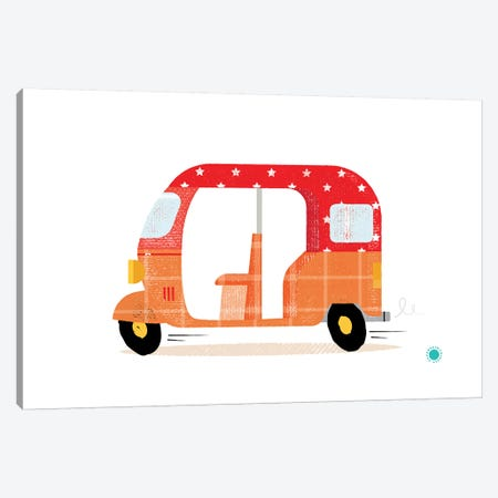 Rickshaw Canvas Print #PPX101} by PaperPaintPixels Canvas Art Print