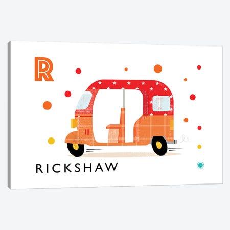 R Is For Rickshaw Canvas Print #PPX102} by PaperPaintPixels Canvas Print