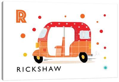 R Is For Rickshaw Canvas Art Print
