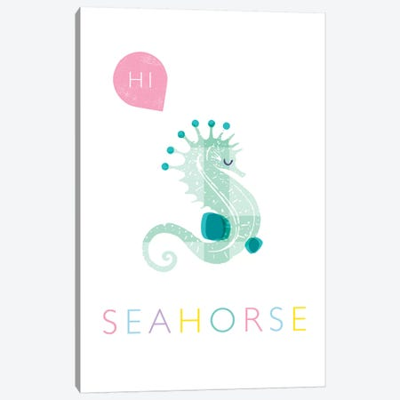 Seahorse Canvas Print #PPX103} by PaperPaintPixels Canvas Print
