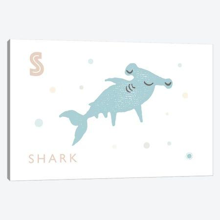 Shark Canvas Print #PPX104} by PaperPaintPixels Canvas Art