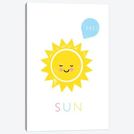 Sun Canvas Print #PPX107} by PaperPaintPixels Canvas Art