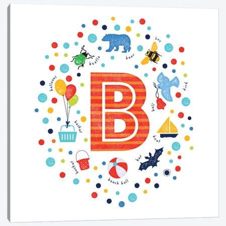 B Canvas Print #PPX10} by PaperPaintPixels Canvas Art Print