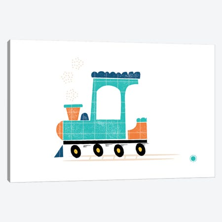 Train Canvas Print #PPX110} by PaperPaintPixels Canvas Artwork