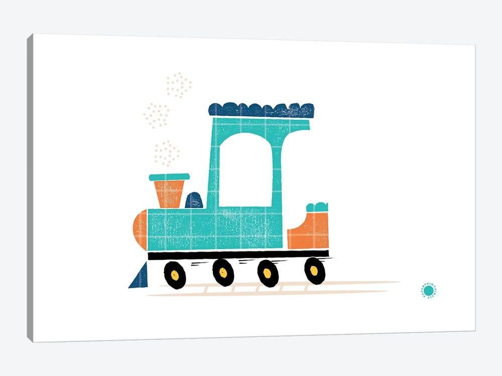 Train by PaperPaintPixels 1-piece Canvas Print