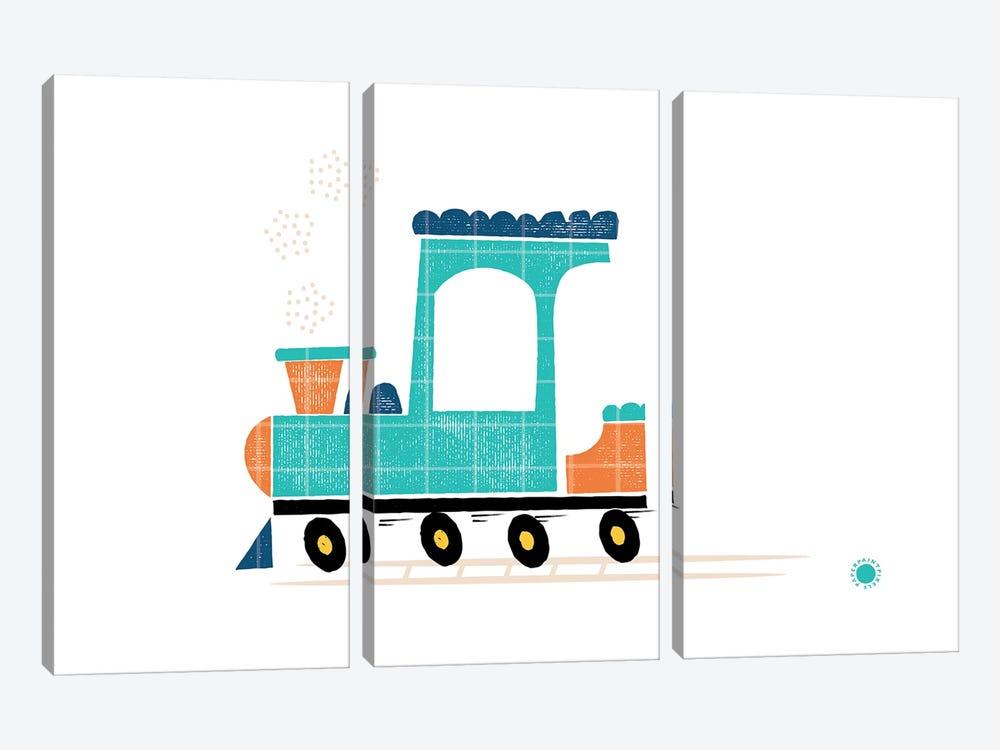 Train by PaperPaintPixels 3-piece Canvas Art Print