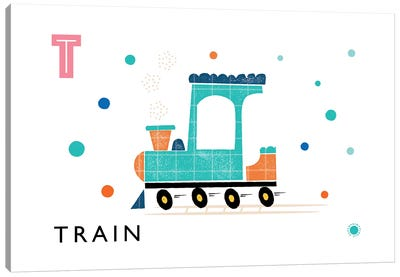 T Is For Train Canvas Art Print