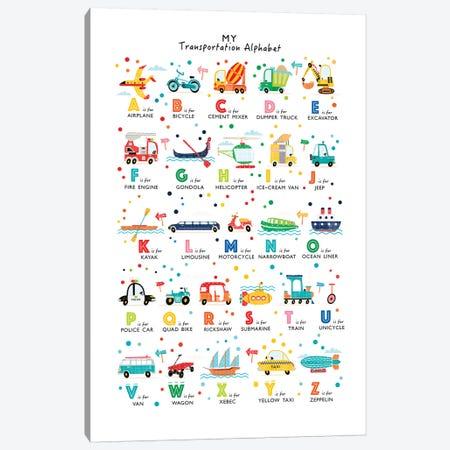 Transportation Alphabet Canvas Print #PPX112} by PaperPaintPixels Canvas Artwork