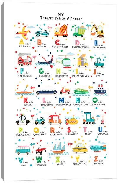 Transportation Alphabet Canvas Art Print