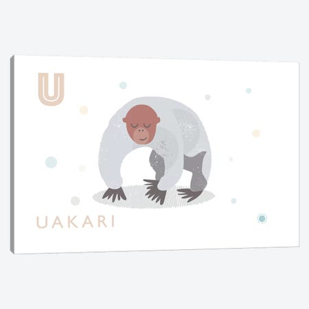 Uakari Canvas Print #PPX114} by PaperPaintPixels Canvas Print