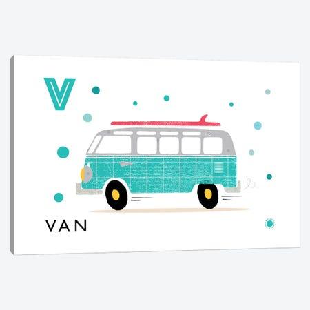 V Is For Van Canvas Print #PPX119} by PaperPaintPixels Canvas Art