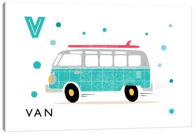 V Is For Van Canvas Art Print