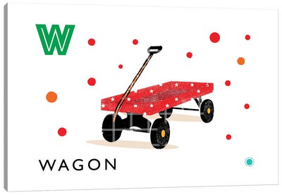 W Is For Wagon Canvas Art Print