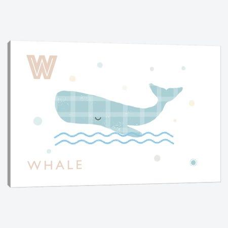 Whale Canvas Print #PPX123} by PaperPaintPixels Art Print