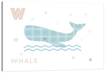 Whale Canvas Art Print