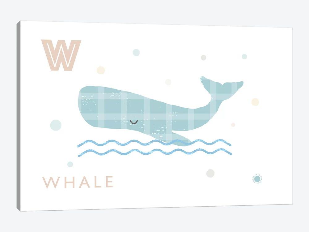 Whale by PaperPaintPixels 1-piece Art Print