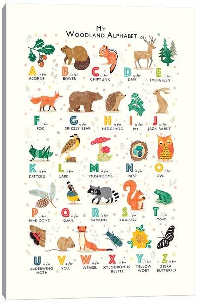 Woodland Alphabet Canvas Art Print