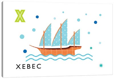 X Is For Xebec Canvas Art Print