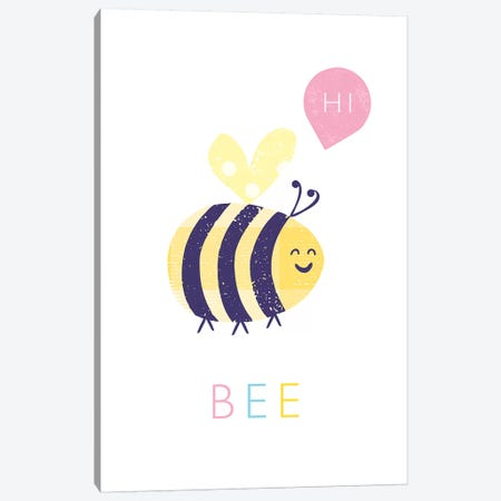 Bee Canvas Print #PPX12} by PaperPaintPixels Canvas Print