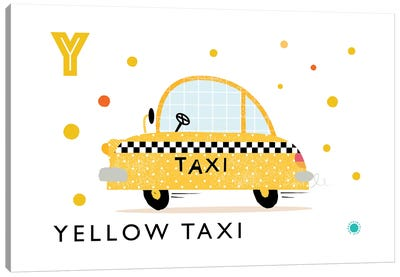 Y Is For Yellow Taxi Canvas Art Print