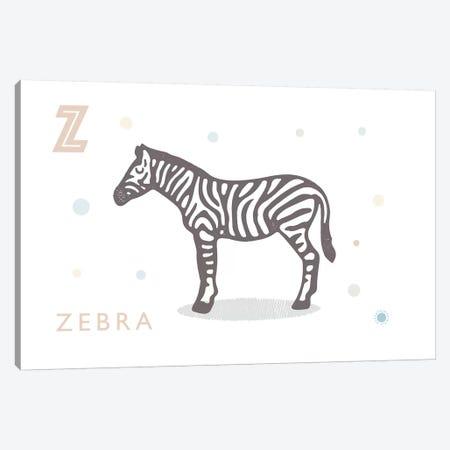 Zebra Canvas Print #PPX133} by PaperPaintPixels Canvas Art