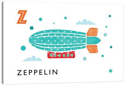 Z Is For Zeppelin Canvas Art Print