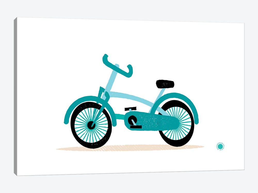 Bicycle by PaperPaintPixels 1-piece Canvas Artwork