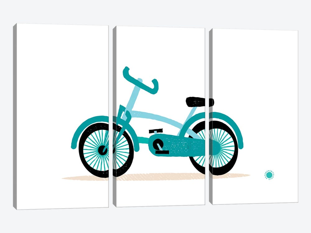 Bicycle by PaperPaintPixels 3-piece Canvas Art