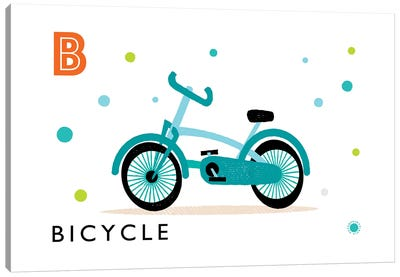 B Is For Bicycle Canvas Art Print