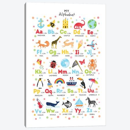 Bright Alphabet Canvas Print #PPX16} by PaperPaintPixels Canvas Art