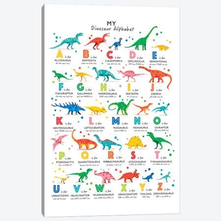 Bright Dinosaur Alphabet Canvas Print #PPX17} by PaperPaintPixels Canvas Artwork