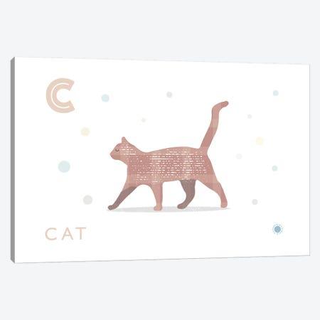 Cat Canvas Print #PPX21} by PaperPaintPixels Canvas Artwork
