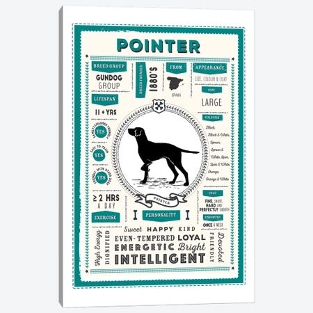 Pointer Infographic Blue Canvas Print #PPX246} by PaperPaintPixels Art Print