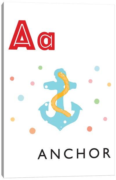 Illustrated Alphabet Flash Cards - A Canvas Art Print