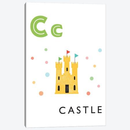 Illustrated Alphabet Flash Cards - C 3-Piece Canvas #PPX270} by PaperPaintPixels Canvas Print