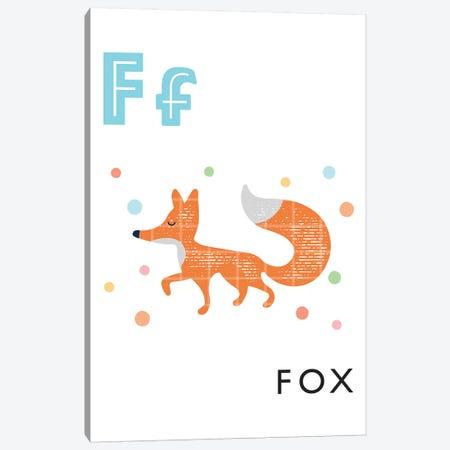 Illustrated Alphabet Flash Cards - F Canvas Print #PPX273} by PaperPaintPixels Art Print