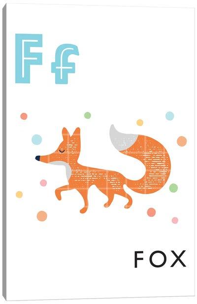 Illustrated Alphabet Flash Cards - F Canvas Art Print