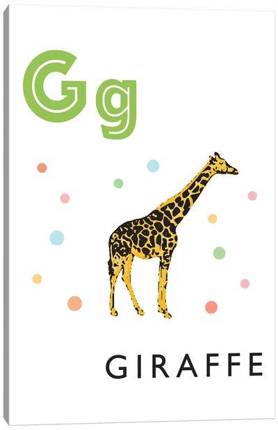 Illustrated Alphabet Flash Cards - G Canvas Art Print