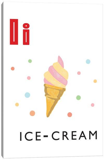 Illustrated Alphabet Flash Cards - I Canvas Art Print