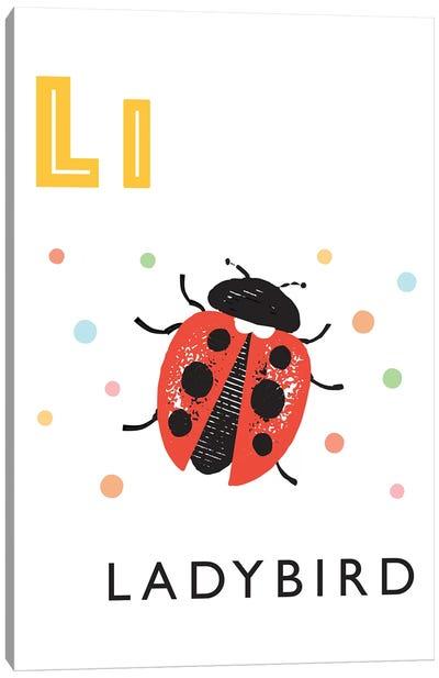 Illustrated Alphabet Flash Cards - L Canvas Art Print