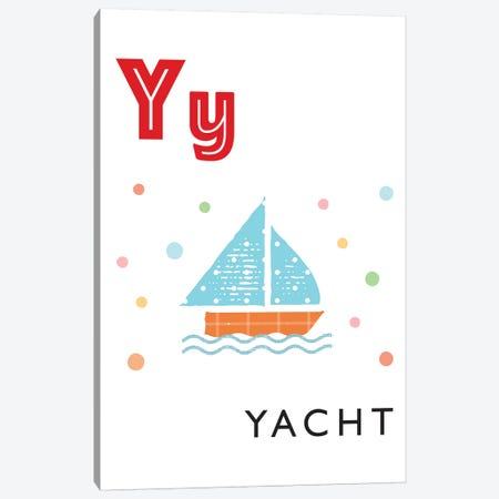 Illustrated Alphabet Flash Cards - Y Canvas Print #PPX292} by PaperPaintPixels Canvas Print