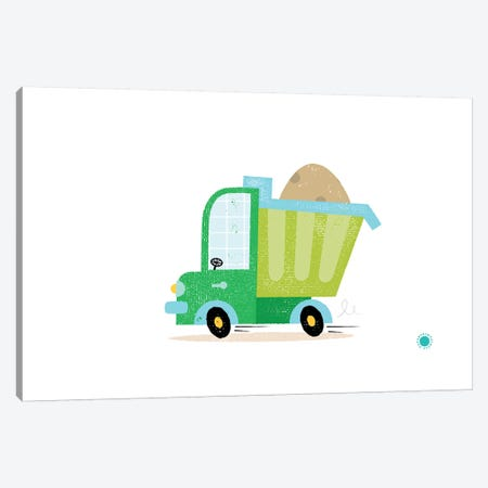 Dumper Truck Canvas Print #PPX29} by PaperPaintPixels Canvas Wall Art