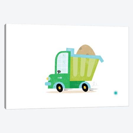 Dumper Truck Canvas Print #PPX29} by PaperPaintPixels Canvas Wall Art