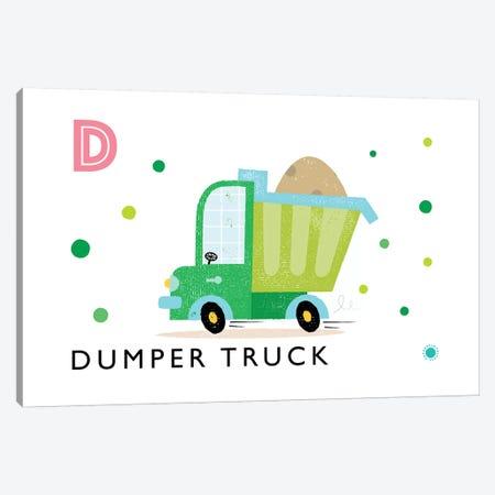 D Is For Dumper Truck Canvas Print #PPX30} by PaperPaintPixels Canvas Art Print