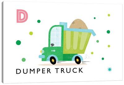 D Is For Dumper Truck Canvas Art Print