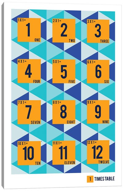 Isometric Times Tables - 1 Canvas Art Print
