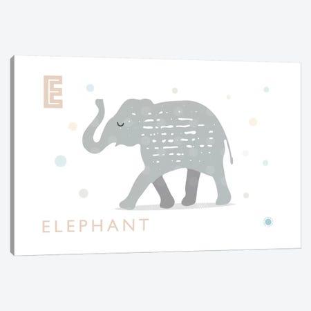 E Is For Elephant 3-Piece Canvas #PPX31} by PaperPaintPixels Canvas Art Print